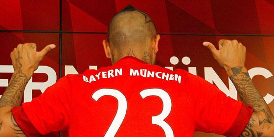 Arturo Vidal: Der Chilene reichert die Bayern-Belegschaft weiter an.