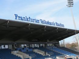 Hier treffen sich die Zweitliga-Klubs und die Aufsteiger zur Beratung: Das Frankfurter Volksbank Stadion.