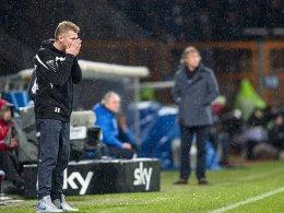Ist mit seiner Mannschaft nicht zufrieden: Paderborns Trainer Stefan Effenberg.