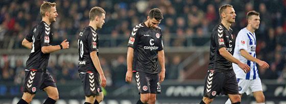 Die Köpfe hingen nach unten: St. Pauli hat den Jahresabschluss verpatzt.