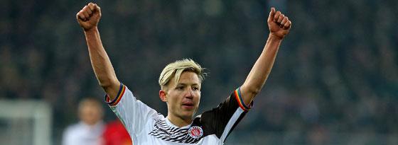 St. Paulis Torschütze zum 1:0 gegen Leipzig: Rzatkowski.