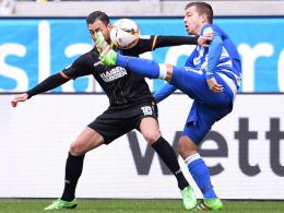 Erste Minute, erster Treffer: KSC-Spieler Torres schlug in Duisburg früh zu.