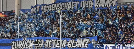 Standen nur vorher hinter der Mannschaft: Die Fans des SC Paderborn.