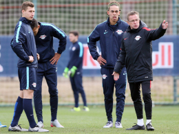 Willi Orban und Ralf Rangnick, RB Leipzig