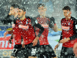11. Saisontreffer: Freiburgs Vicenzo Grifo (Nr. 32) bejubelt das 1:0.