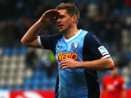 Doppelpacker: Terodde rettete Bochum gegen Bielefeld einen Punkt.