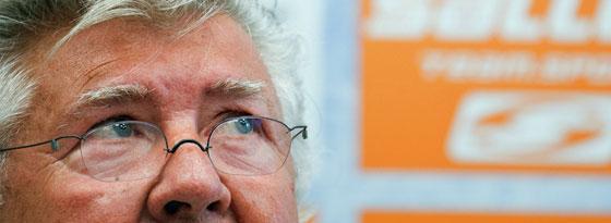 Banger Blick nach oben: Wilfried Finke.