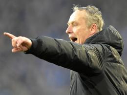 Freiburgs Trainer Christian Streich.