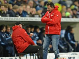 Nur ein Sieg aus zehn Spielen: Trainer Alois Schwartz und der SV Sandhausen.