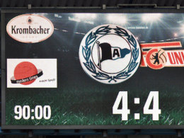 Das verr�ckte Ende eines kurzweiligen Nachmittags: Bielefeld und Union trennen sich 4:4.