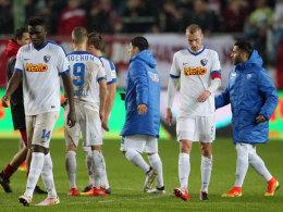 Zerknirscht: Nach dem 0:3 auf dem Lauterer Betzenberg versinkt der VfL Bochum im Mittelmaß.