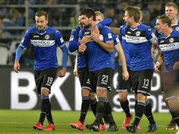 Laufstrecke am Spieltag: Bielefeld eine Klasse für sich