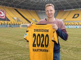 Dresden bindet Kapitän Hartmann bis 2020