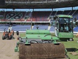 Vorteil Hannover? Neuer Rasen für die Arena