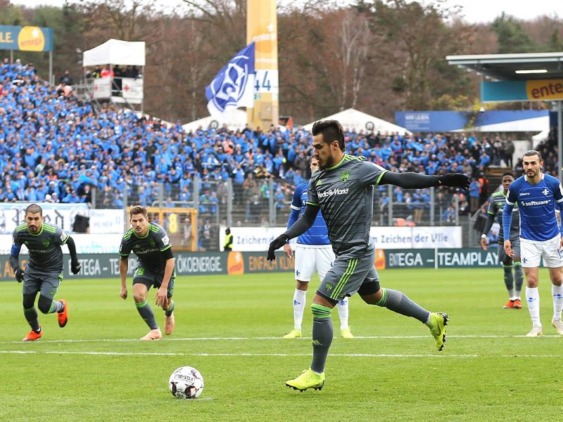 Brachte Ingolstadt vom Punkt in Front: Dario Lezcano.