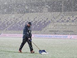 Starker Schneefall: In Aue geht nichts