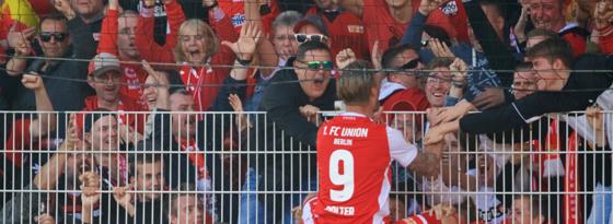 Zaun-König: Sebastian Polter traf gegen Magdeburg zweimal.