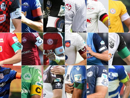 Die 18 Kapit�ne in der 2. Liga