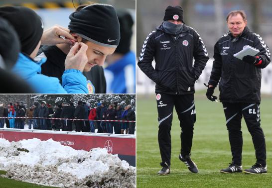 Von einem Laktattest im Schnee, fr�stelnden Fans und einem vermummten Co-Trainer.