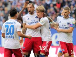 Hattrick in acht Minuten: Lasogga schießt HSV zum Sieg