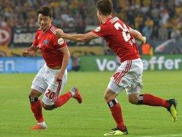 1:0 in Dresden: HSV neuer Tabellenführer