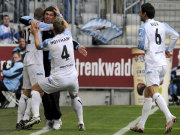 1860 München feiert den Treffer zum 1:0