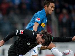 Matchwinner: Chong Tese, hier im Duell mit Osnabrücks Kapitän Angelo Barletta, markierte den entscheidenden Treffer zum 2:1 für seinen VfL