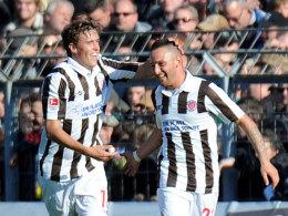 Torschützen für den FC St. Pauli: Max Kruse udn Deniz Naki.