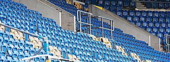Menschenleere DKB-Arena