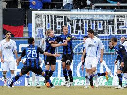 2. Liga 2011/12, 23. Spieltag, FSV, KSC, 2:0, Cinaz, Gledson