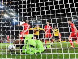 2:1 von Dynamo Dresden durch Mickael Poté
