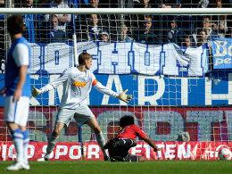 Caiuby (re.) erzielt per Kopf das 1:0 gegen Bochum