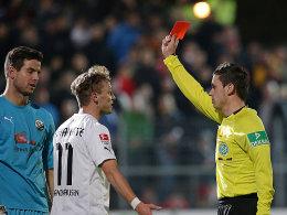 Michael Langer, Julian Schauerte (rechts, beide SV Sandhausen)