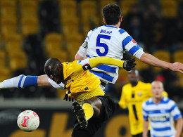 Mickael Poté (Dynamo Dresden), Branimir Bajic (MSV Duisburg)