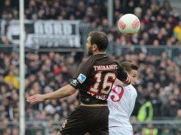 Kampf ist Trumpf: Thorandt gegen Stiepermann.