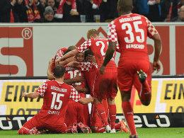 Siegtreffer durch Liendl (Fortuna Düsseldorf)