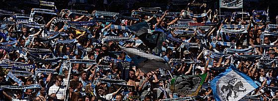 Volles Haus: Zahlreiche Löwen-Fans kamen zu Abstiegskracher.