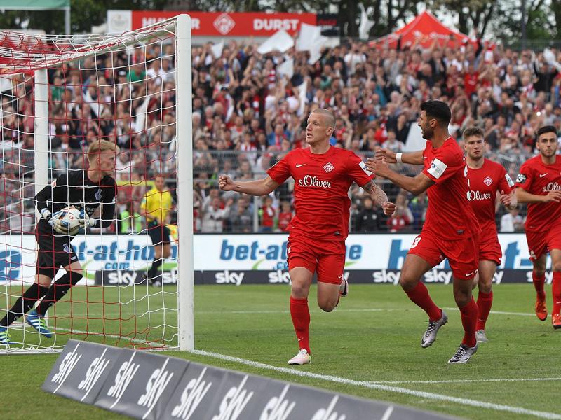 Würzburger Kickers - MSV Duisburg 2:0, 2. Bundesliga-Relegation ...