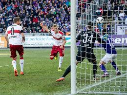 Brutal effektiver VfB erteilt Aue eine Lehrstunde