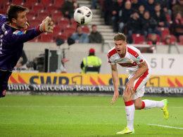 VfB springt auf Rang eins - dank Terodde und Green