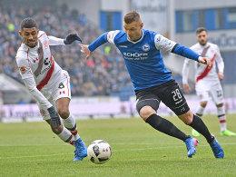 Klos im Schlussakt - schmeichelhafter Punkt für Bielefeld