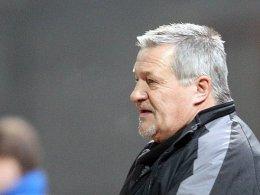 Darf weiter auf seinen Kapitän zählen: SVW-Trainer Wolfgang Steinbach.