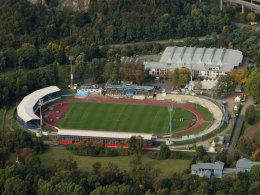 Hier wird 2011/12 Regionalliga-Fußball gespielt: Das Stadion Oberwerth in Koblenz.