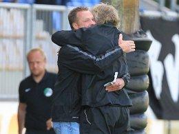 BV Cloppenburg-Coach Klütz (li.) mit Co-Trainer Neumann
