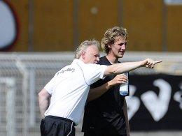 Trainer Jörg-Uwe Klütz und Rogier Krohne