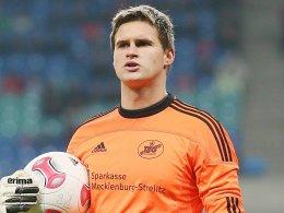 Auch nächste Saison im TSG-Trikot: Neustrelitz-Keeper Daniel Bittner.