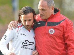 Ralf Aussem mit Cataldo Cozza (li.)