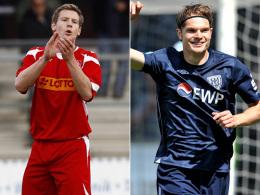 Laufen ab nächster Saison für die Sportfreunde Lotte auf: Tim Wendel (li.) und Christian Groß.