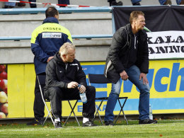 Jörg-Uwe Klütz (rechts) und sein Co-Trainer Mario Neumann