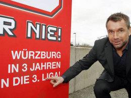 Ambitionen: Bernd Hollerbach möchte die Würzburger Kickers in die 3. Liga führen.